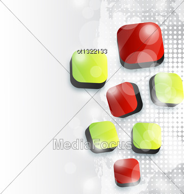 Illustration Abstract Squares Background For Your Advertise Card - Vector Stock Photo