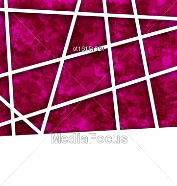 Illustration Abstract Striped Background For Business Presentation, Creative Composition. Copy Space For Your Text - Vector Stock Photo