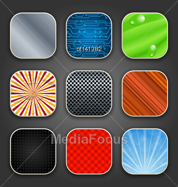 Illustration Backgrounds With Texture For The App Icons - Vector Stock Photo