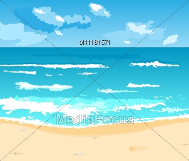 Beautiful Summer Background With Beach Stock Photo