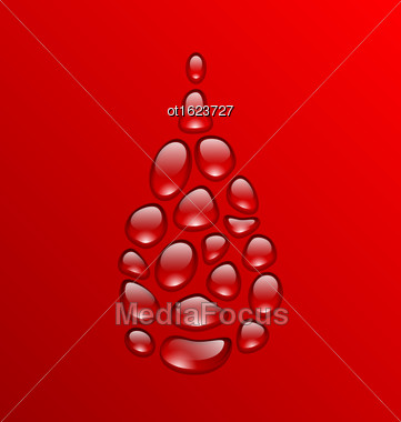 Illustration Blood Drop Made Of Drops. Concept Medical Background - Vector Stock Photo