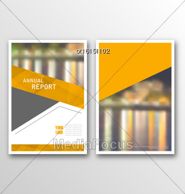Illustration Brochure Template Layout, Cover Design Annual Report, Design Of Magazine Or Newspaper - Vector Stock Photo