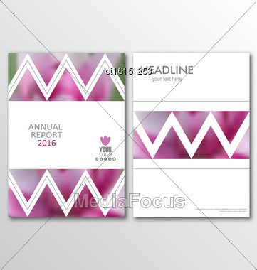 Illustration Business Brochures, Blur Backgrounds. Layout Can Be Used For Design For Poster, Magazine, Flyer - Vector Stock Photo