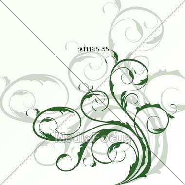 Illustration Of Cute Floral Background And Design Elements Vector Stock