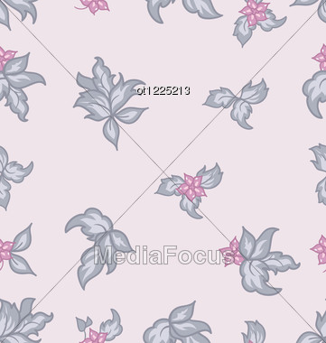 Cute Flower Vintage Seamless Background Stock Photo