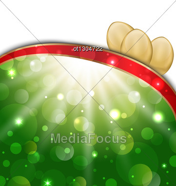 Easter Background With Golden Eggs Stock Photo