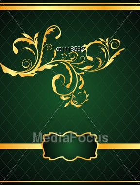 The Floral Background For Design Of Packing Or Invitation Stock Photo