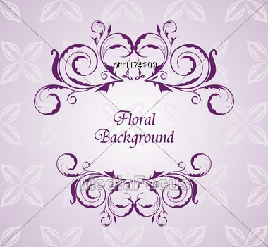 Stock Photo Floral Background For Design Wedding Card Image