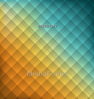 Illustration Geometrical Abstraction Background With Squares - Vector Stock Photo