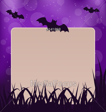 Illustration Halloween Card With Place For Text - Vector Stock Photo