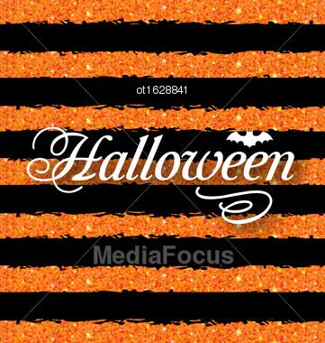 Illustration Happy Halloween Poster. Light Holiday Background - Vector Stock Photo