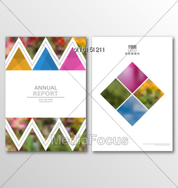 Illustration Leaflet Brochure Flyer Template A4 Size Design, Annual Report Book Design, Abstract Presentation Templates - Vector Stock Photo