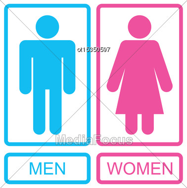 Illustration Male And Female Icons, Men And Women Signs - Vector Stock Photo