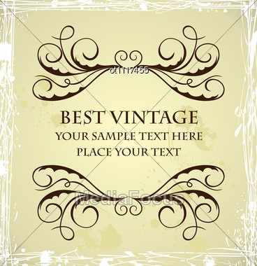 Stock photo vintage grunge template image ot1117455 vintage royalty free stock photo vintage grunge template pronofoot35fo Gallery