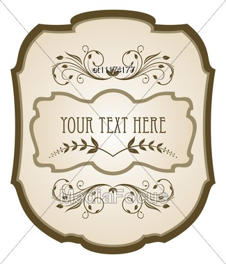 Royalty Free Stock Photo: Vintage Label Wine  Free Wine Label Template