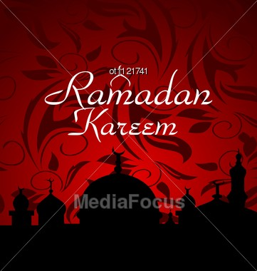 Ramazan Celebration Background Stock Photo