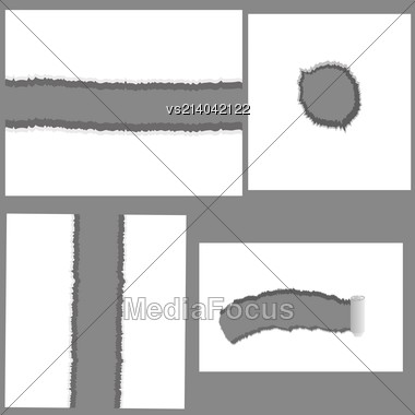 Illustration With Set Of Holes For Your Design Stock Photo