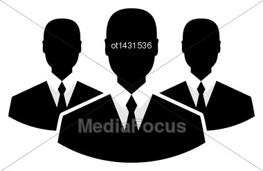 Illustration Team Icon, Community Business People - Vector Stock Photo