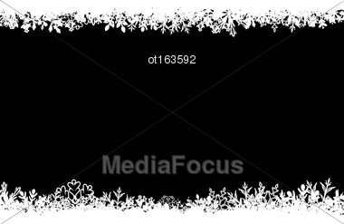 Illustration Winter Abstract Background With Snow. Christmas Snow Surface - Vector Stock Photo
