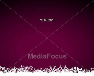 Illustration Winter Cute Snowing Background With Snowflakes - Vector Stock Photo