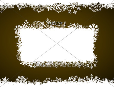 Illustration Winter Frame With Snowflakes, Holiday Background - Vector Stock Photo