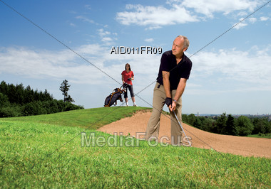 In A Golf Sandtrap Stock Photo