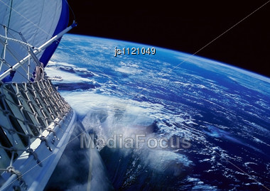 In Air Sight Sailing Around The World Stock Photo