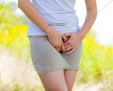 Inadequate Personal Hygiene Has The Consequence Of Vaginal Mycosis Stock Photo