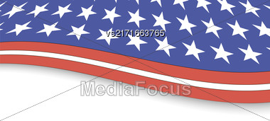 Independence Day Of America. American Flag Background Stock Photo