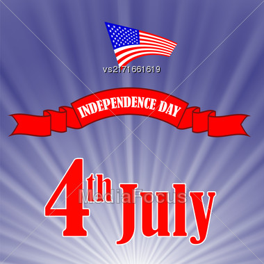 Independence Day Of America. American Flag Starry Background Stock Photo