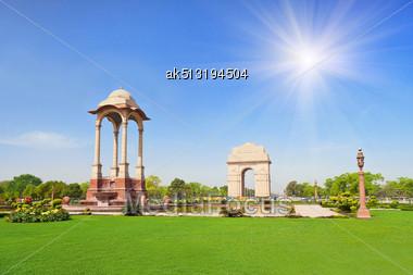 India Gate, New Delhi, India Stock Photo