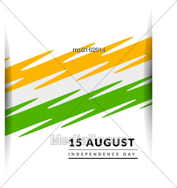 Indian Independence Day Vector Background With Balloons National Flag Colors Stock Photo