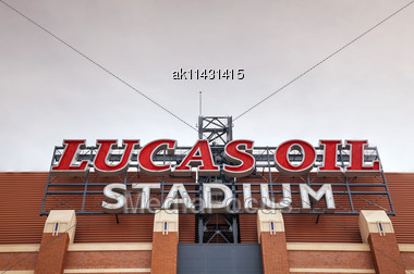 INDIANAPOLIS - APRIL 4: Lucas Oil Stadium On April 4, 2014 In Indianapolis, Indiana. It's A Multi-purpose Stadium In Downtown Indianapolis Officially Opened To The Public On August 16, 2008 Stock Photo