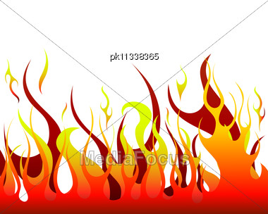 Inferno Fire Vector Background Stock Photo