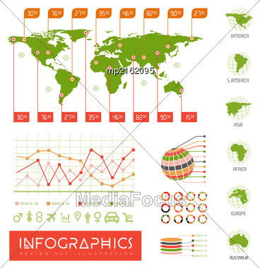 Infographics Vector Set Illustration On White Background Stock Photo