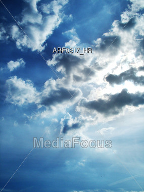 Inspirational Clouds In The Sky Stock Photo