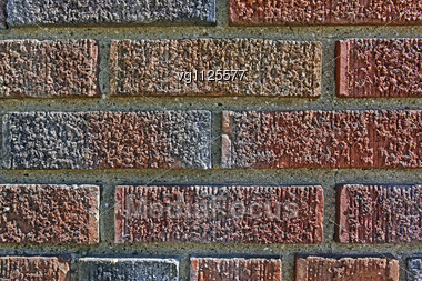 Intense Sunlight Brickwork Weathered Stained Old Red Brick Wall Background Stock Photo