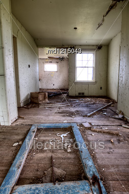 Interior Abandoned House Prairie Saskatchewan Canada Stock Photo