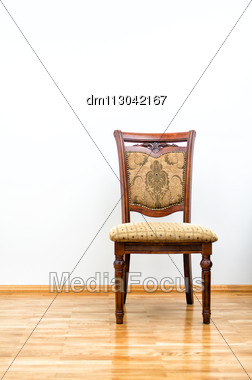 Interior With Classic Chair On Wooden Floor Stock Photo