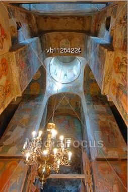 Interior Details Of The Holy Transfiguration Church Of The Saviour And St.Evphrosinija Nunnery, Polotsk, Belarus Stock Photo