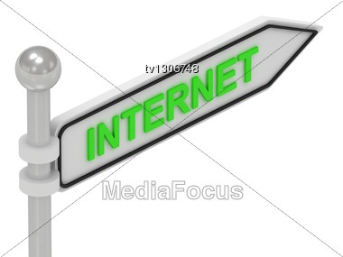 INTERNET Arrow Sign With Letters Stock Photo