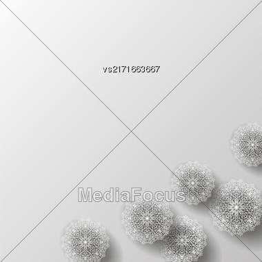 Islam, Arabic, Indian, Ottoman Motifs. Monochrome Contour Mandala Isolated On Grey Background. Ethnic Amulet Of Mandala Stock Photo