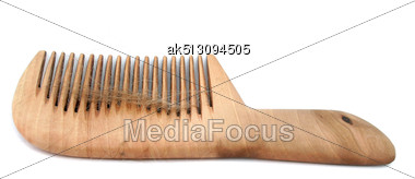 Isolated Comb With Loss Hair Stock Photo