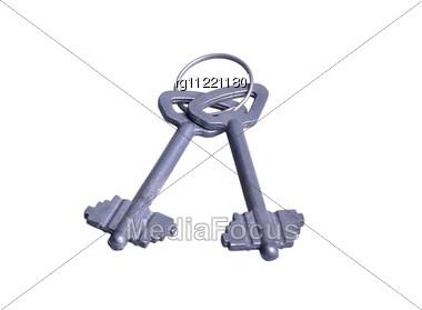 Isolated Keys Stock Photo