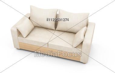 Isolated Modern Sofa Stock Photo