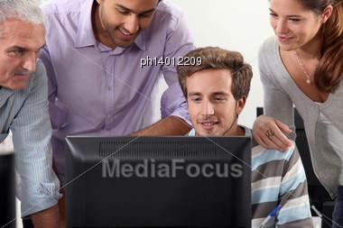 IT Lesson Stock Photo