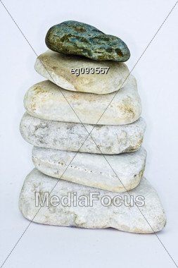 It Shows A Group Of Stacked Stones Stock Photo