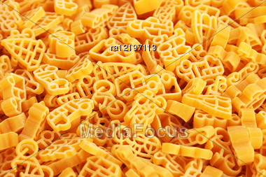 Italian Pasta Closeup Picture As A Background. Stock Photo