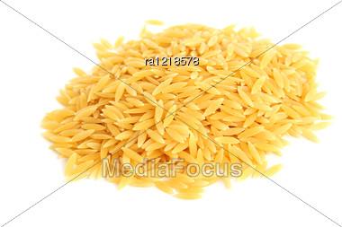 Italian Pasta Isolated On White Background. Stock Photo