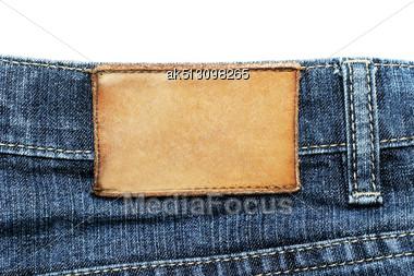 Jeans Label Stock Photo